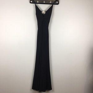 Cache Elegant Black Evening Gown Size 4 EUC